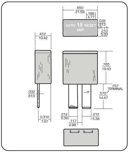 Power Gear 15 Amp Circuit Breaker 14-1090   pdxrvwholesale