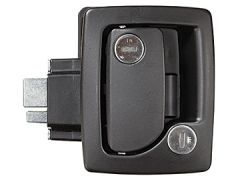 RV Designer Black Travel Trailer Handle With Deadbolt T500