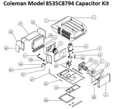 Coleman Heat Pump Model 8534C8794 Capacitor Kit