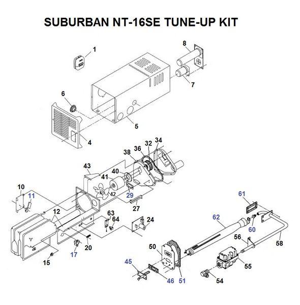 Suburban Furnace Model NT-16SE Parts | pdxrvwholesale