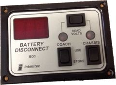 Intellitec Battery Disconnect Panel, BD3, 01-00066-007