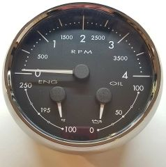 Medallion Tach / Oil / Temp Dash Gauge 8640-40012-29