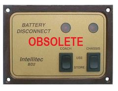 Intellitec Battery Disconnect Panel, BD2, 01-00066-002