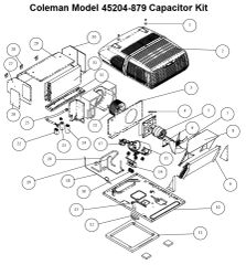 Coleman Air Conditioner Model 45204-879 Capacitor Kit
