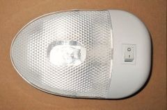 Single Ceiling / Bay Light, Single Bulb, White, L09-0093