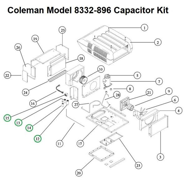 coleman air conditioner model 8332