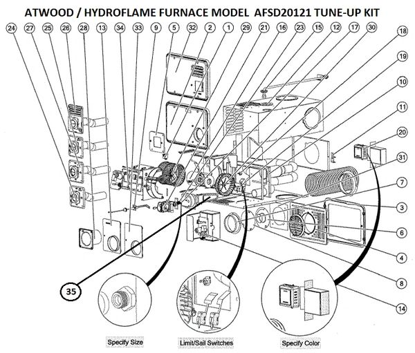 atwood furnace model afsd20121 parts pdxrvwholesale Goodman Electric Furnace Wiring Diagram