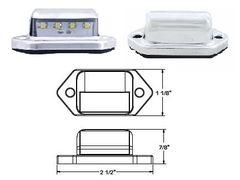 LED License Plate Lamp, 4 LED, L10-0001