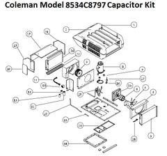 Coleman Heat Pump Model 8534C8797 Capacitor Kit