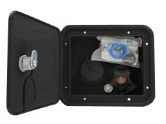 Valterra Gravity/Brass City Water Inlet Hatch, Black Kit