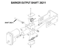 Barker Slide Out Output Shaft 26211