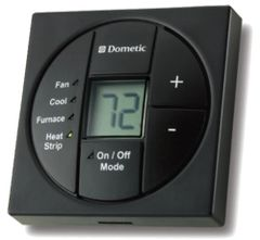 Dometic Single Zone LCD Thermostat, Cool/Furnace/Heat Strip, 3313189.056