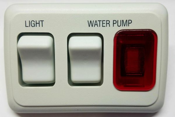 rv bathroom light switch water pump switch water pump indicator