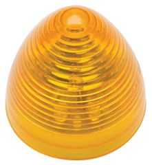 "2"" Round, Amber Lens, Amber 9 Diode LED Marker Light - Beehive Style, 1M-M05A"