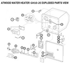 Atwood Water Heater Model GH10-2E Rebuild Kit