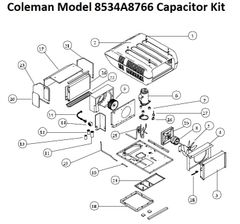 Coleman Heat Pump Model 8534A8766 Capacitor Kit
