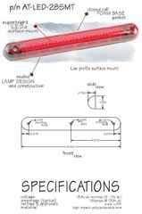 LED Third Brake Light, Surface Mount AT-LED-28SMT