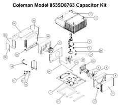 Coleman Heat Pump Model 8535D8763 Capacitor Kit