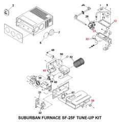 Suburban Furnace Model SF-25F Tune-Up Kit