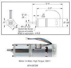 Lippert In-Wall Motor, High Torque 287298