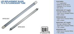 "F15T8 Fluorescent Tube 18"" 66 Diode LED Bulb, Neutral White, WP05-0041NW"