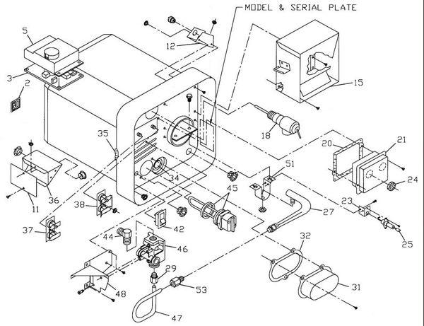 Suburban Water Heater Model Sw12de Parts