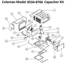Coleman Heat Pump Model 8534-8766 Capacitor Kit