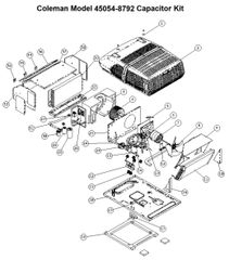 Coleman Heat Pump Model 45054-8792 Capacitor Kit