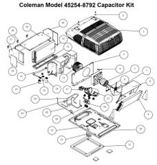 Coleman Air Conditioner Model 45254-8792 Capacitor Kit