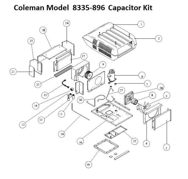 coleman air conditioner model 8335