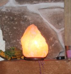 Genuine Himalayan Pink Salt Lamp Natural Deep Mined Medium 7-9#