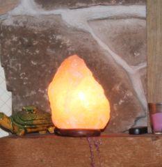 Genuine Himalayan Pink Salt Lamp Natural Deep Mined Mini 3-5#