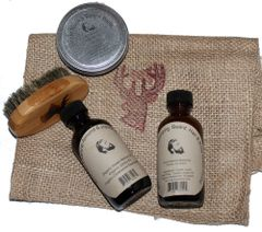 Buck Lees Combo Beard Care Wax, Wash, Oil and Brush