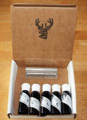 Buck Lee's All Natural Beard Oil Sample Pack 5 X 1oz Bottles Plus Comb