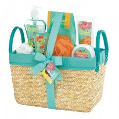 Coconut Lime Tropical Spa Basket Set