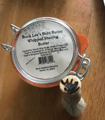 Buck Lee's All Natural Shaving Butter With Shaving Brush 3oz