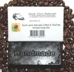 Buck Lee's Naturals Coffee & Tea Tree Infused Soap Bar
