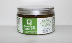 Absolute Organic Certified Organic Olive Oil Dead Sea Salt Scrub 14.81oz