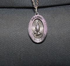 Buck Lee's Naturals Sterling Praying Hands Pendant With Chain