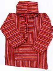 Buck Lee's Naturals Premium Saddleblanket Baja Pullover With Hood