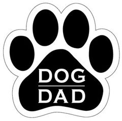 Dog Dad Paw Magnet