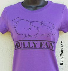 Bully Fans Logo LADIES T-shirt - Purple