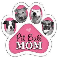 Pitbull Mom Paw Magnet