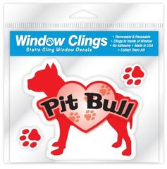 Red Pitbull Window Cling