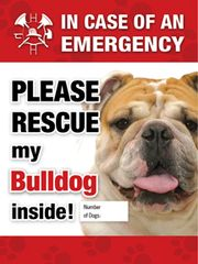 Bulldog Emergency Sticker