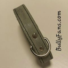 1 inch Brushed Grey Leather Dog Collar