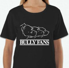 SALE Bully Fans Logo WOMEN'S T-shirt - BLACK