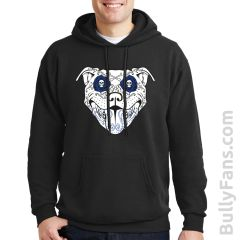 Bully Fans BullyDeLosMuertos Hoodie - Black with Blue Accents