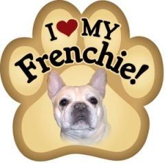 I Love My Frenchie Paw Magnet