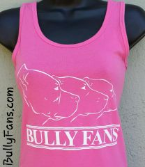 Bully Fans Logo LADIES Tank Top - PINK